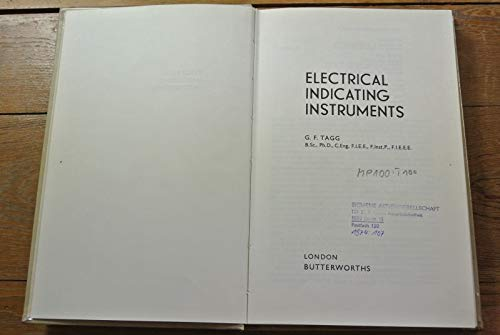 Electrical Indicating Instruments: Tagg, George Frank