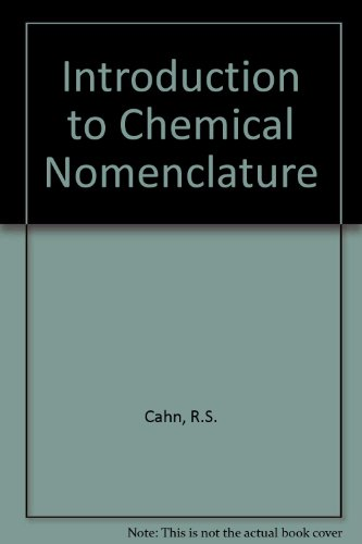 9780408705233: Introduction to Chemical Nomenclature