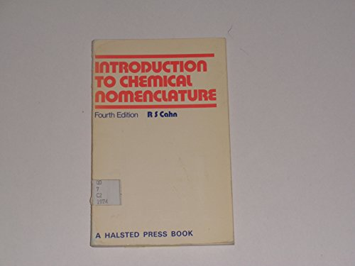 9780408705240: Introduction to Chemical Nomenclature