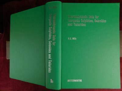 9780408705370: Thermodynamic Data for Inorganic Sulphides, Selenides and Tellurides