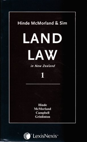 9780408717434: Hinde, McMorland & Sim Land Law in New Zealand