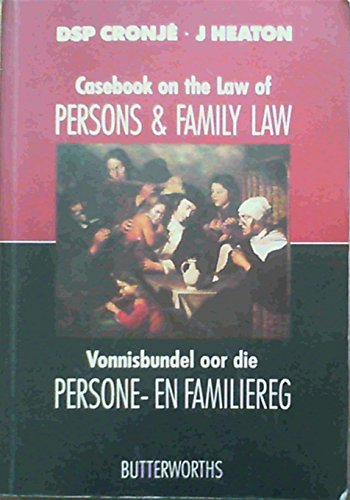 9780409020809: Casebook on the Law of Persons and Family Law