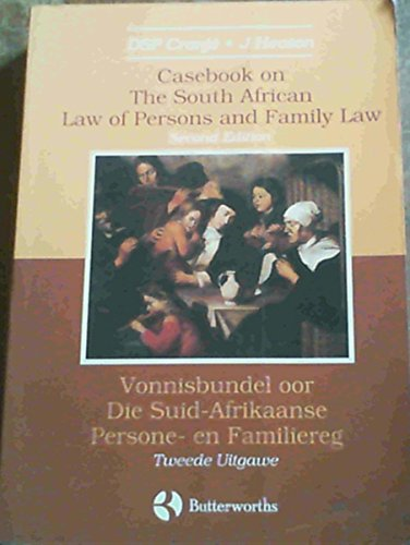 9780409020816: Casebook on the law of persons and family law