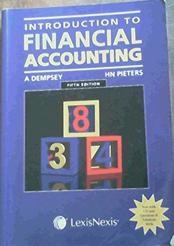 9780409027846: Introduction To Financial Accounting & Introduction to accounting Questions and Answers