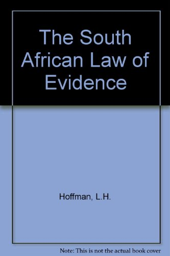 9780409033250: The South African Law of Evidence