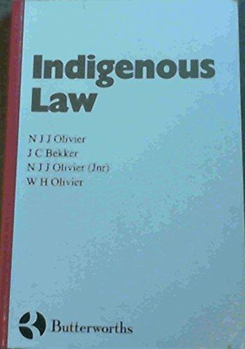 Indigenous Law: Olivier, N J