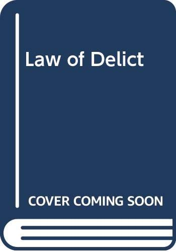 Law of Delict: J. Neethling et