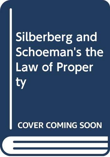 9780409053166: Silberberg and Schoeman's the Law of Property