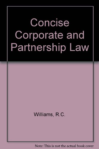 9780409063929: Concise corporate and partnership Law