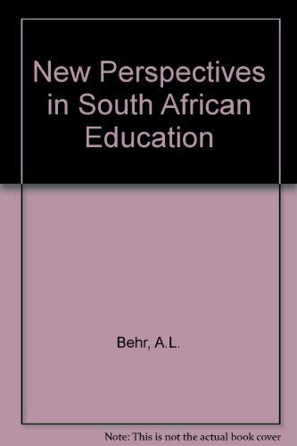 9780409095401: New Perspectives in South African Education