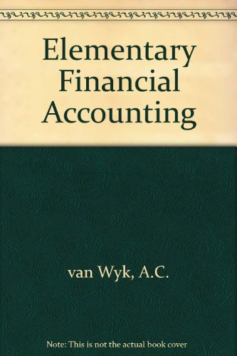 9780409102642: Elementary Financial Accounting