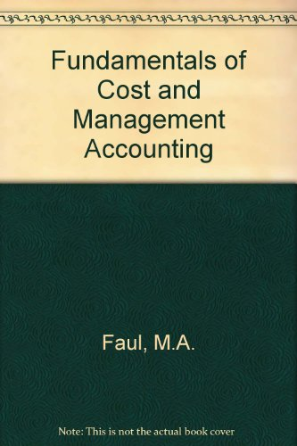 9780409103137: Fundamentals of Cost and Management Accounting