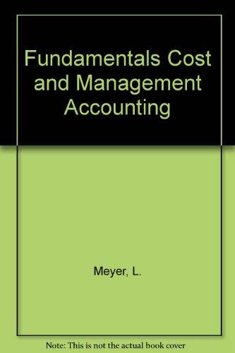 9780409103557: Fundamentals Cost and Management Accounting