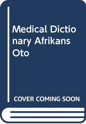 9780409103656: Medical Dictionary: Afrikaans and English