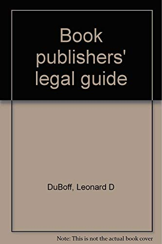 9780409204360: Book publishers' legal guide