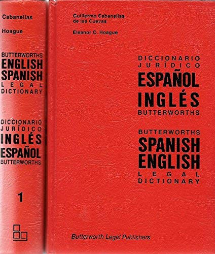 9780409256697: Butterworths Spanish English Legal Dictionary (2 Volumes)