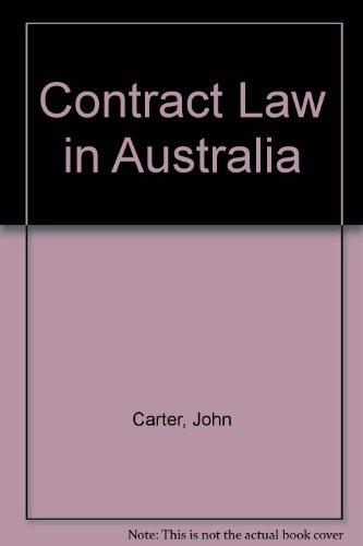 9780409301908: Contract Law in Australia