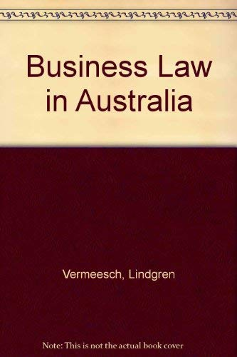 9780409303599: Business Law in Australia