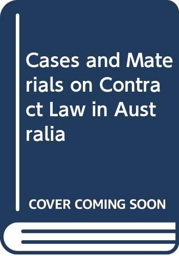 9780409304855: Cases and Materials on Contract Law in Australia