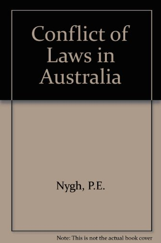 9780409308174: Conflict of Laws in Australia