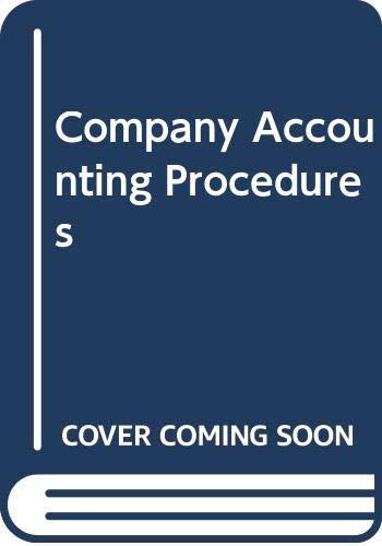 9780409308358: Company Accounting Procedures