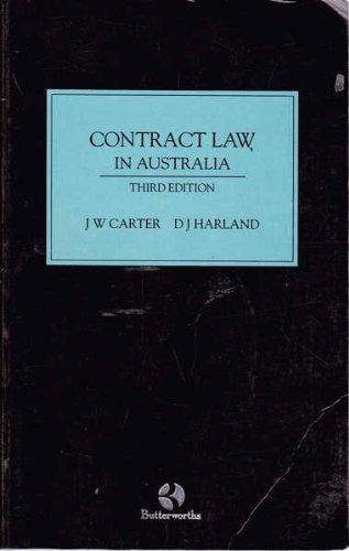 Contract law in Australia: Carter, J. W