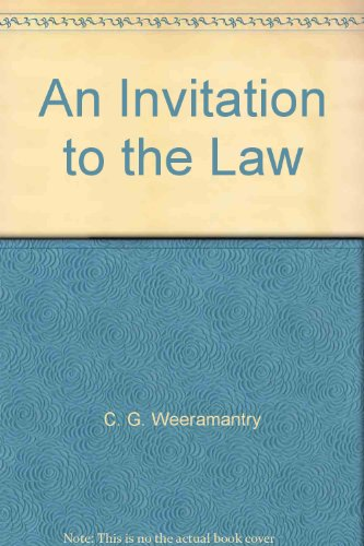 9780409309348: An Invitation to the Law