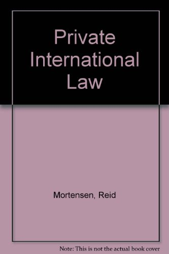 9780409311075: Private International Law