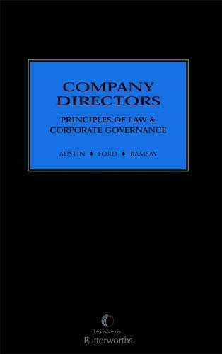 Company Directors: Principles of Law and Corporate Governance (Hardcover): Austin