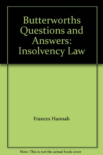 9780409313819: Butterworths Questions and Answers: Insolvency Law