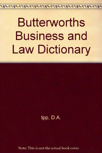 9780409314007: Butterworths Business And Law Dictionary