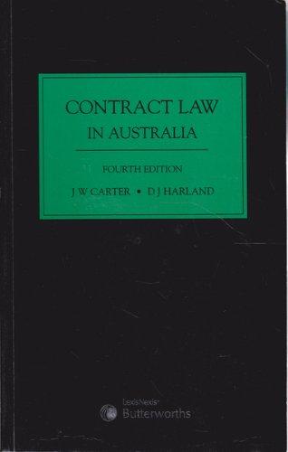 9780409318760: Contract law in Australia