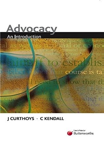 9780409322064: Advocacy: An Introduction