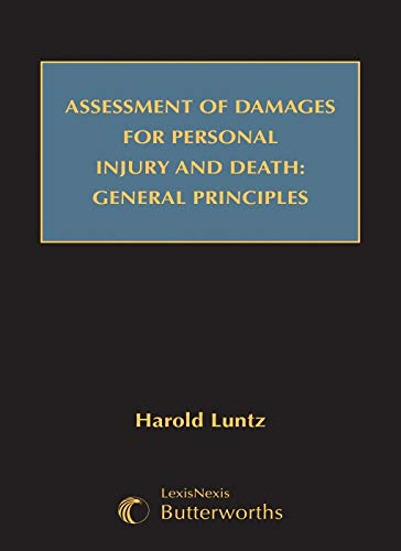 9780409322934: Assessment of Damages for Personal Injury and Death: General Principles