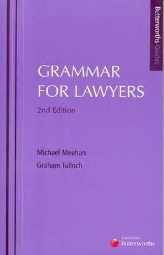 9780409323146: Grammar for Lawyers (Butterworths Guides)