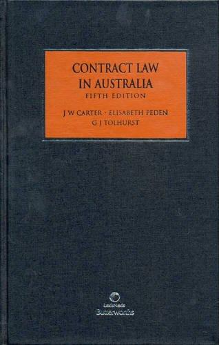 9780409323597: Contract Law in Australia