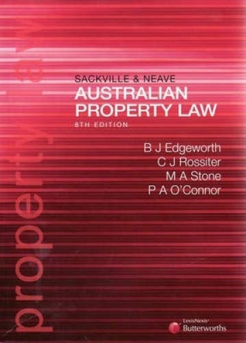 9780409324044: Sackville and Neave Australian Property Law