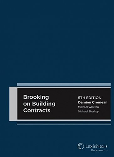 9780409329216: Brooking on Building Contracts 5th Edition