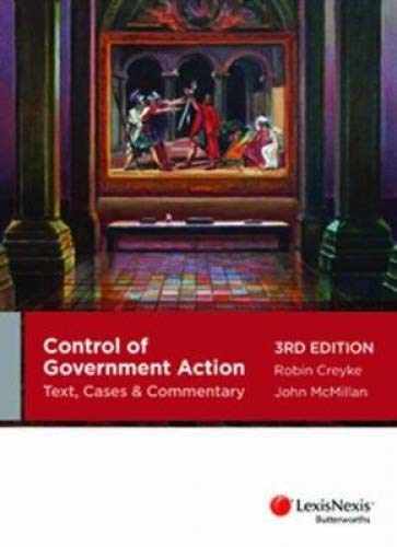 9780409331837: Control of Government Action: Text, Cases & Commentary - 3rd Edition