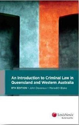 9780409331981: Kenny Criminal Law in Queensland and Western Australia, 8th Edition