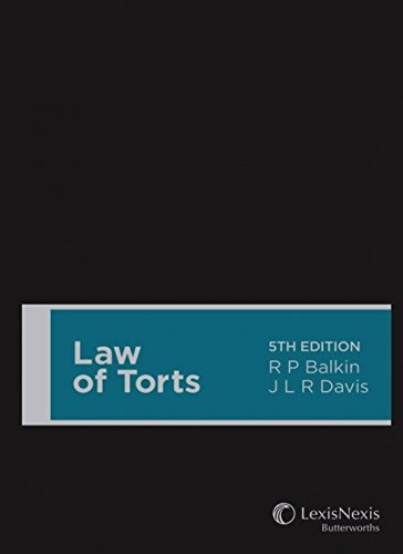 Law of Torts (Hardcover): R.P. Balkin