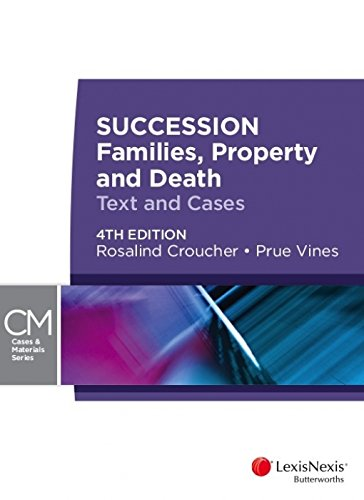 9780409333435: Succession: Families, Property and Death, 4th Edition