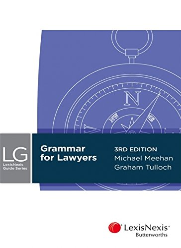 9780409334524: Grammar for Lawyers, 3rd Edition