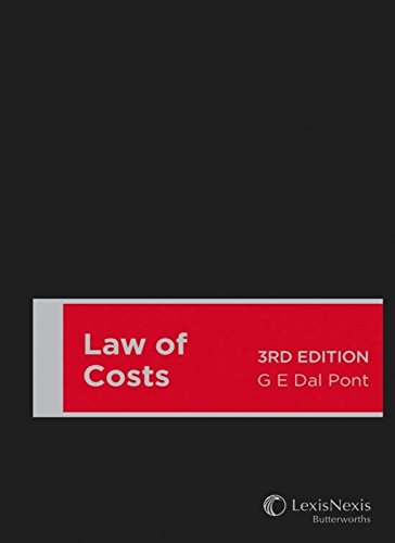 9780409334784: Law of Costs, 3rd Edition