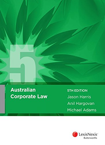 Australian Corporate Law (Paperback): Harris, J; Hargovan, A; Adams, M