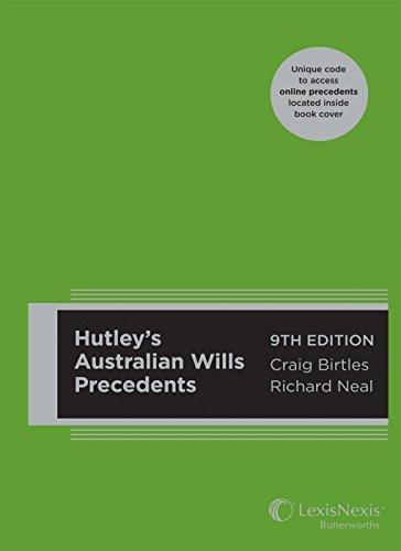 Hutley's Australian Wills Precedents, 9th Edition (Paperback): Craig Birtles