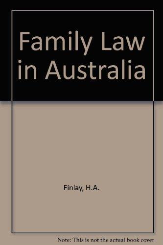 9780409495218: Family Law in Australia