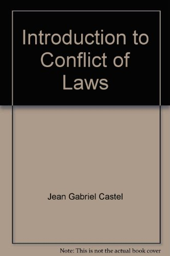 9780409805925: Introduction to Conflict of Laws