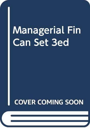 Managerial Fin Can Set 3ed: LUSZTIG SCHWAB