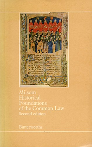 9780409850055: Historical Foundations of the Common Law